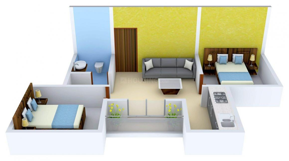 Floor Plan Image of 595 - 1404 Sq.ft 2 BHK Apartment for buy in Radiance Realty Liberty