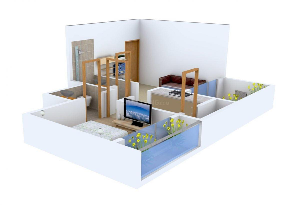 Espree Reverie Floor Plan: 1 BHK Unit with Built up area of 627 sq.ft 1