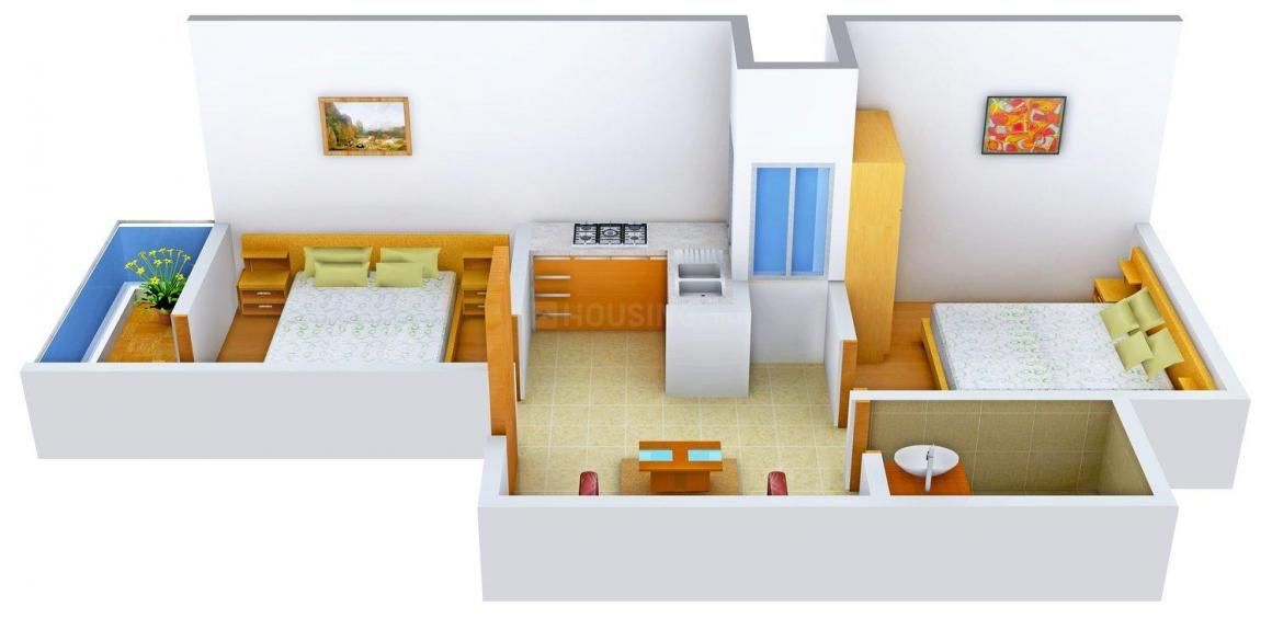 Floor Plan Image of 0 - 495.0 Sq.ft 2 BHK Apartment for buy in Rawat - 2