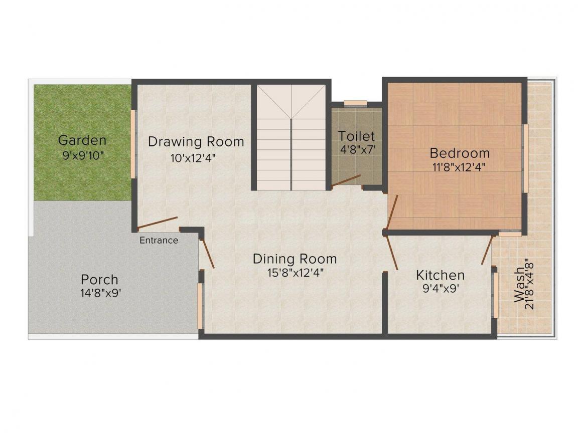 Floor Plan Image of 0 - 1500.0 Sq.ft 3 BHK Duplex for buy in Himagiri City