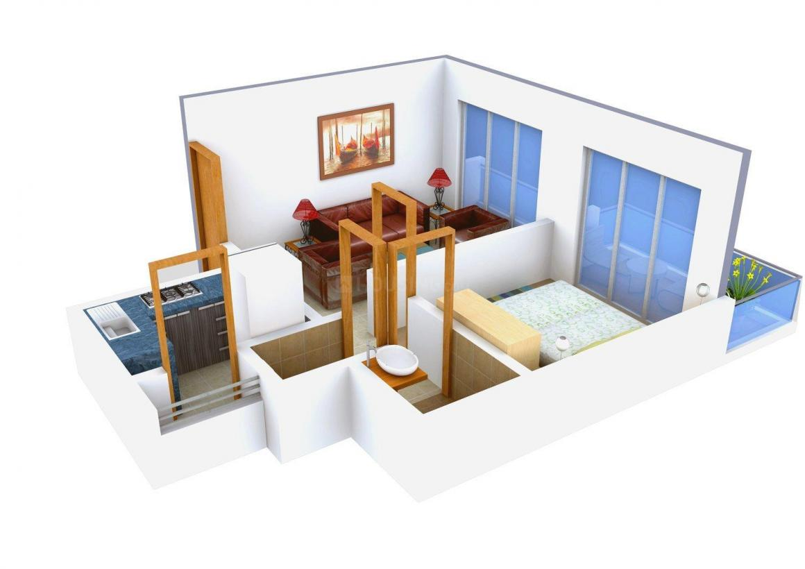 Floor Plan Image of 670 - 940 Sq.ft 1 BHK Apartment for buy in Triveni The Dream
