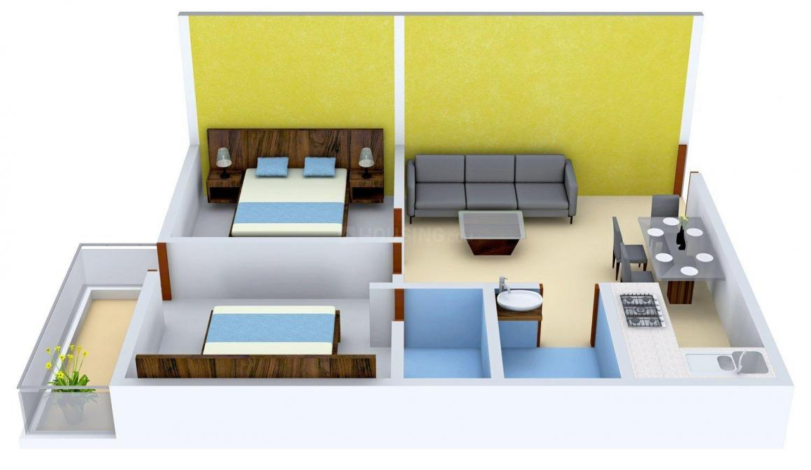 Floor Plan Image of 710.0 - 1045.0 Sq.ft 2 BHK Apartment for buy in SK Royal Ashiana