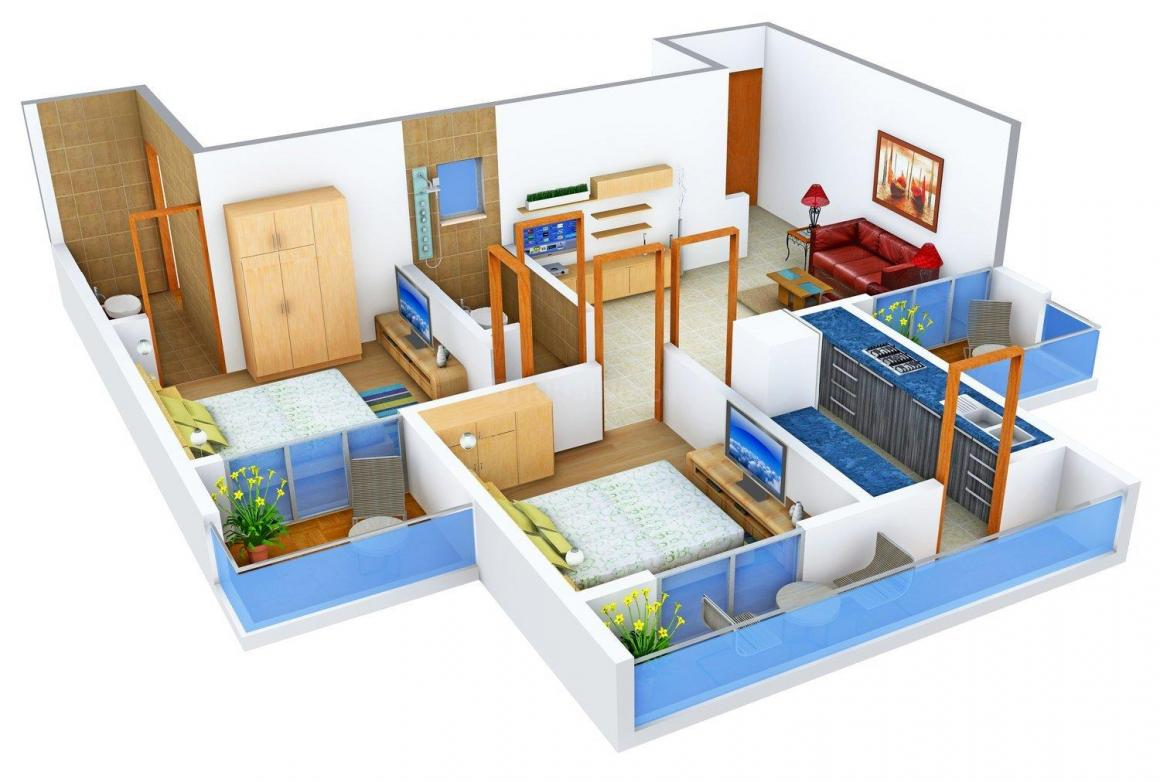 Floor Plan Image of 0 - 1010.0 Sq.ft 2 BHK Apartment for buy in Monarch Luxuria