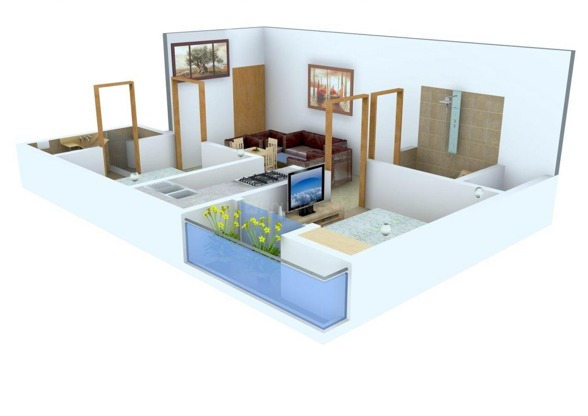 Perfect Apartment Floor Plan: 2 BHK Unit with Built up area of 765 sq.ft 1