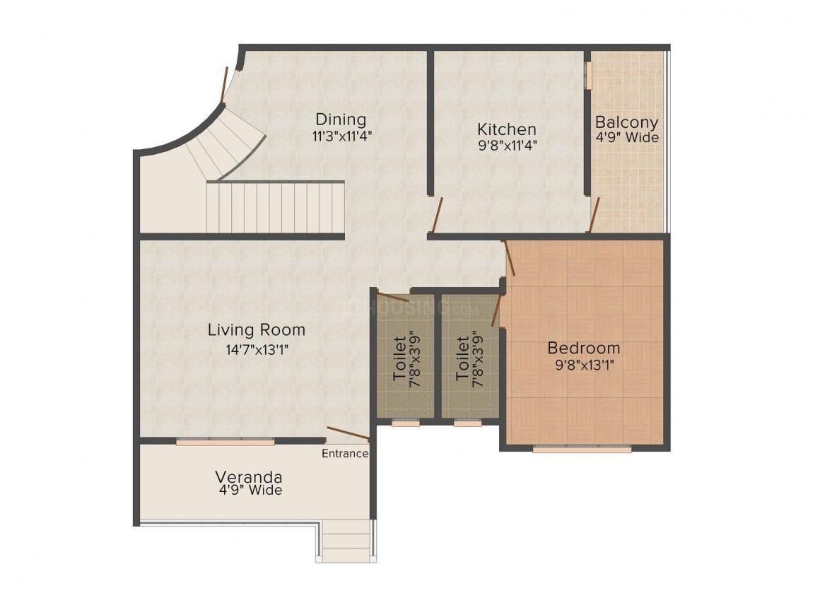 Floor Plan Image of 1345 - 2152 Sq.ft 3 BHK Duplex for buy in Sumit Mount