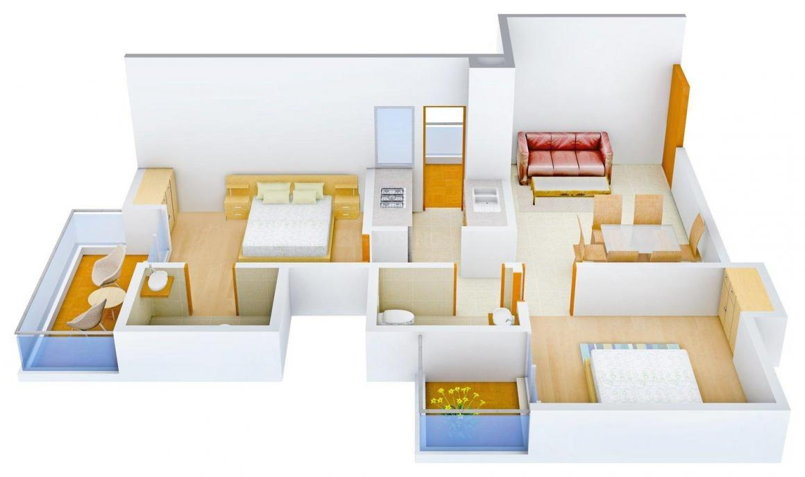 Floor Plan Image of 995 - 2405 Sq.ft 2 BHK Apartment for buy in Ratandeep Silver Homes