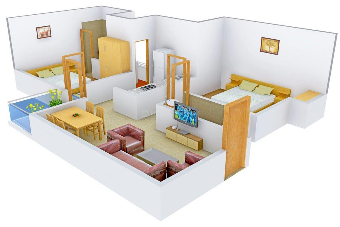 Chinarr Dream CT Floor Plan: 2 BHK Unit with Built up area of 850 sq.ft 1