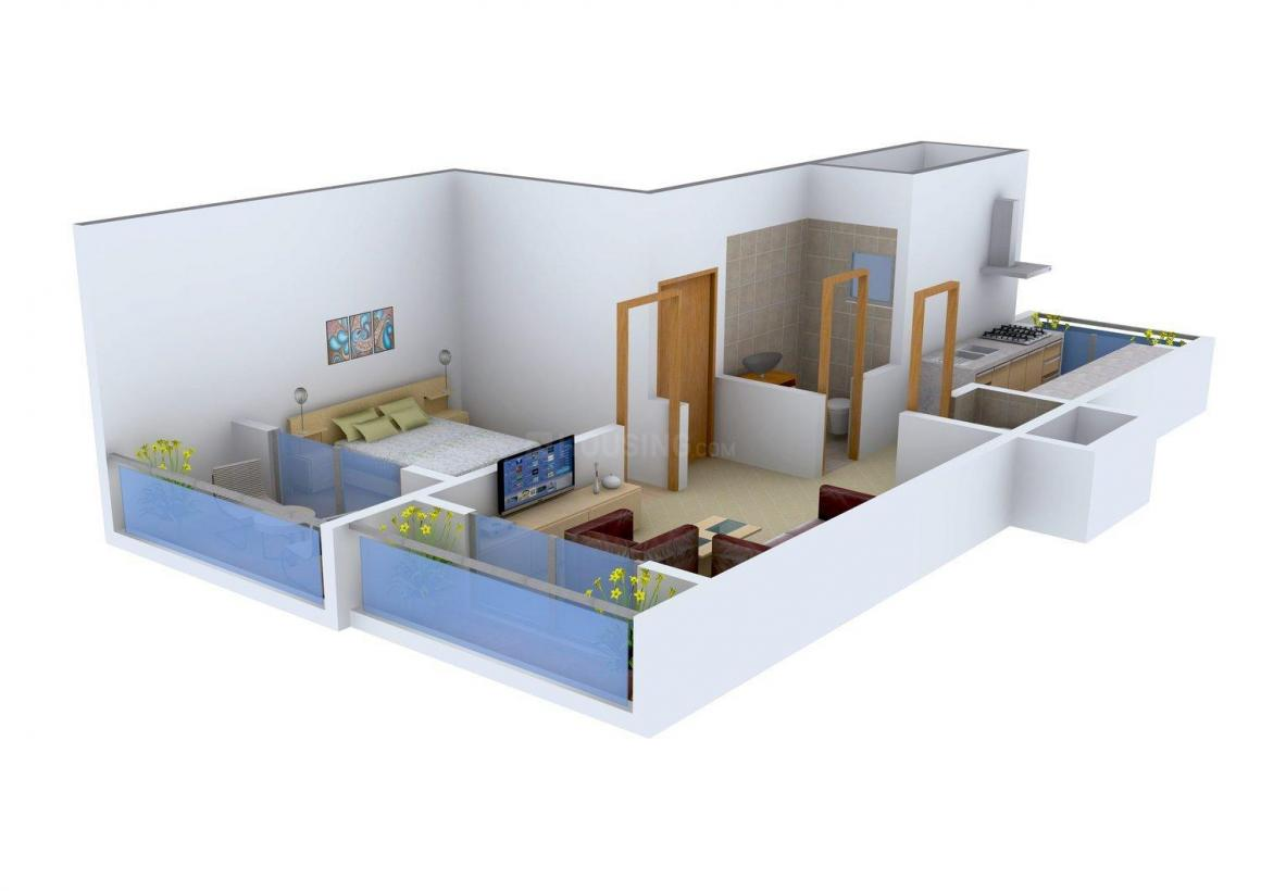 Floor Plan Image of 692.0 - 1140.0 Sq.ft 1 BHK Apartment for buy in V. G. Sai Shraddha