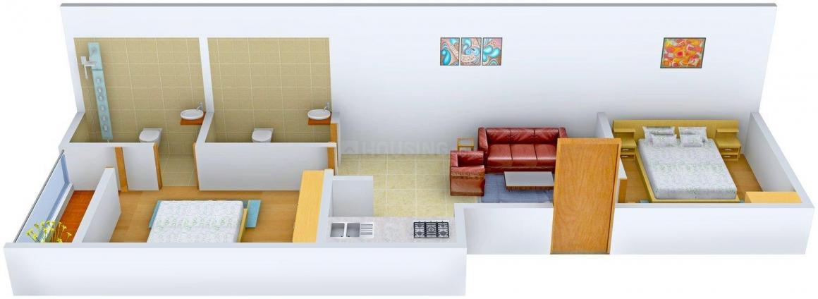 Floor Plan Image of 0 - 522.0 Sq.ft 2 BHK Independent Floor for buy in Shri Sai Vishal Floors - III