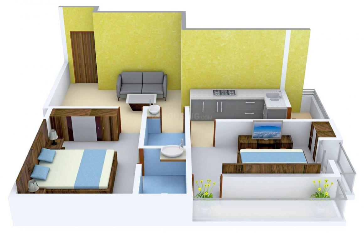 Floor Plan Image of 900.0 - 1366.0 Sq.ft 2 BHK Apartment for buy in RB Ambagan Heights