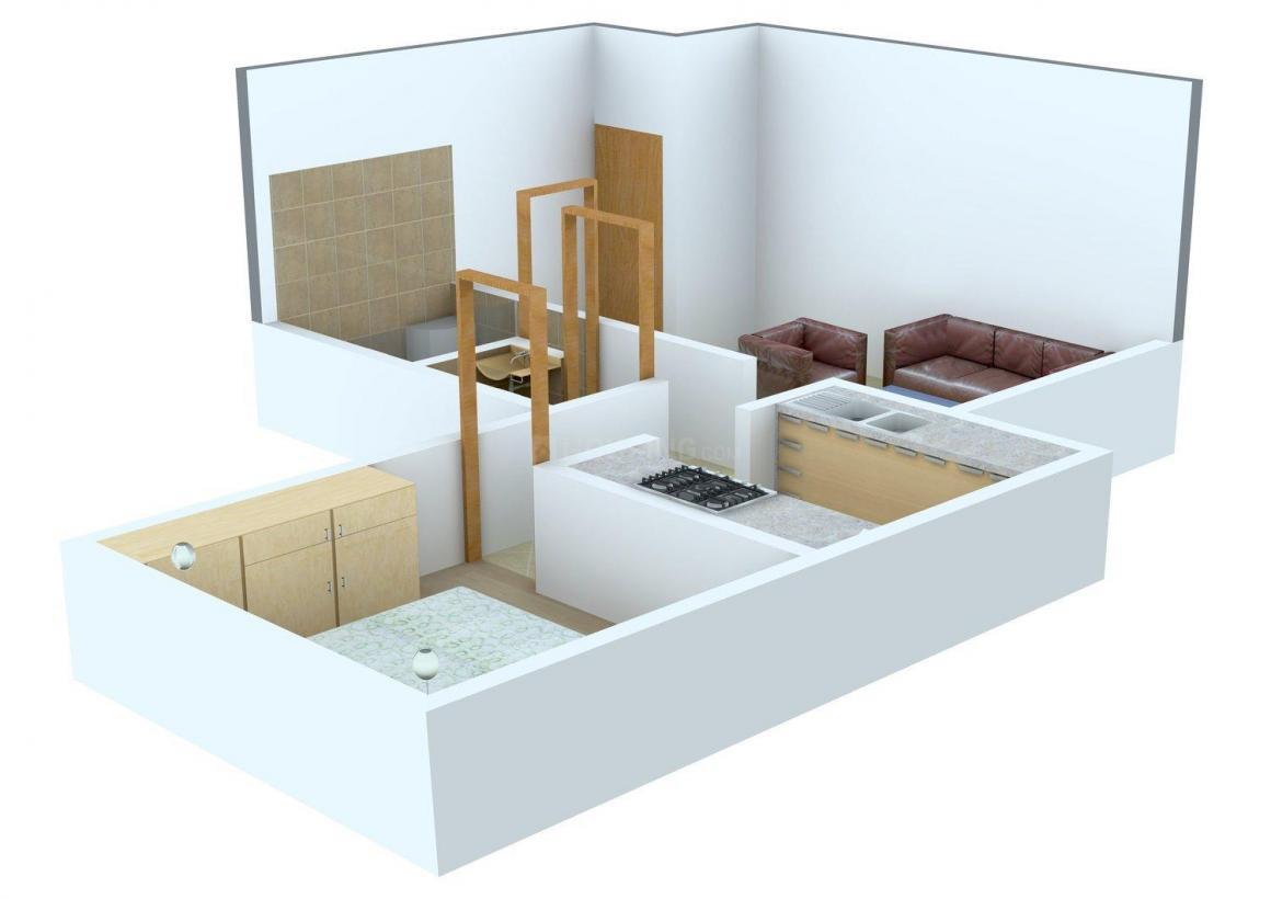 Floor Plan Image of 516.0 - 665.0 Sq.ft 1 BHK Apartment for buy in Abhishek Kool Breeze
