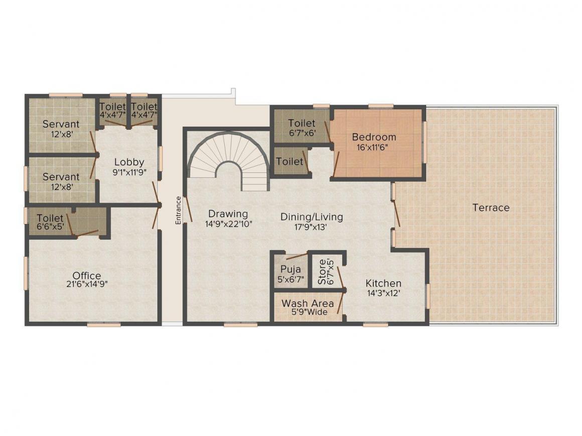 Floor Plan Image of 3520 - 6700 Sq.ft 4 BHK Villa for buy in Anil Sri Vishnu's Grande Vista