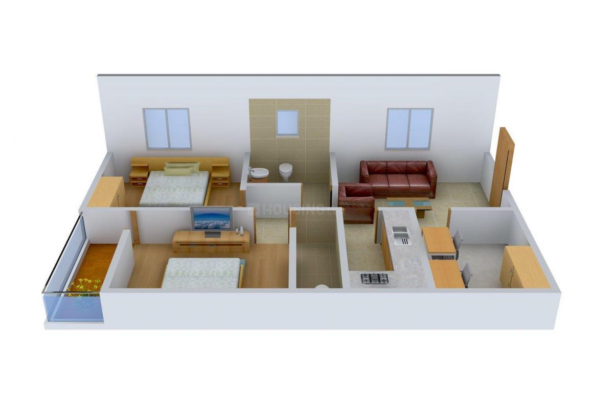 Floor Plan Image of 980 - 1950 Sq.ft 2 BHK Apartment for buy in Abhinava Vrindaban Garden