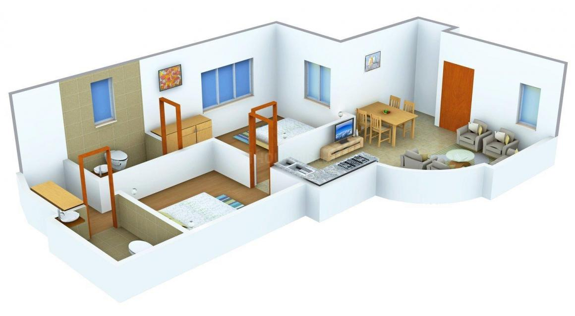 Floor Plan Image of 1040 - 1775 Sq.ft 2 BHK Apartment for buy in Sun Elite