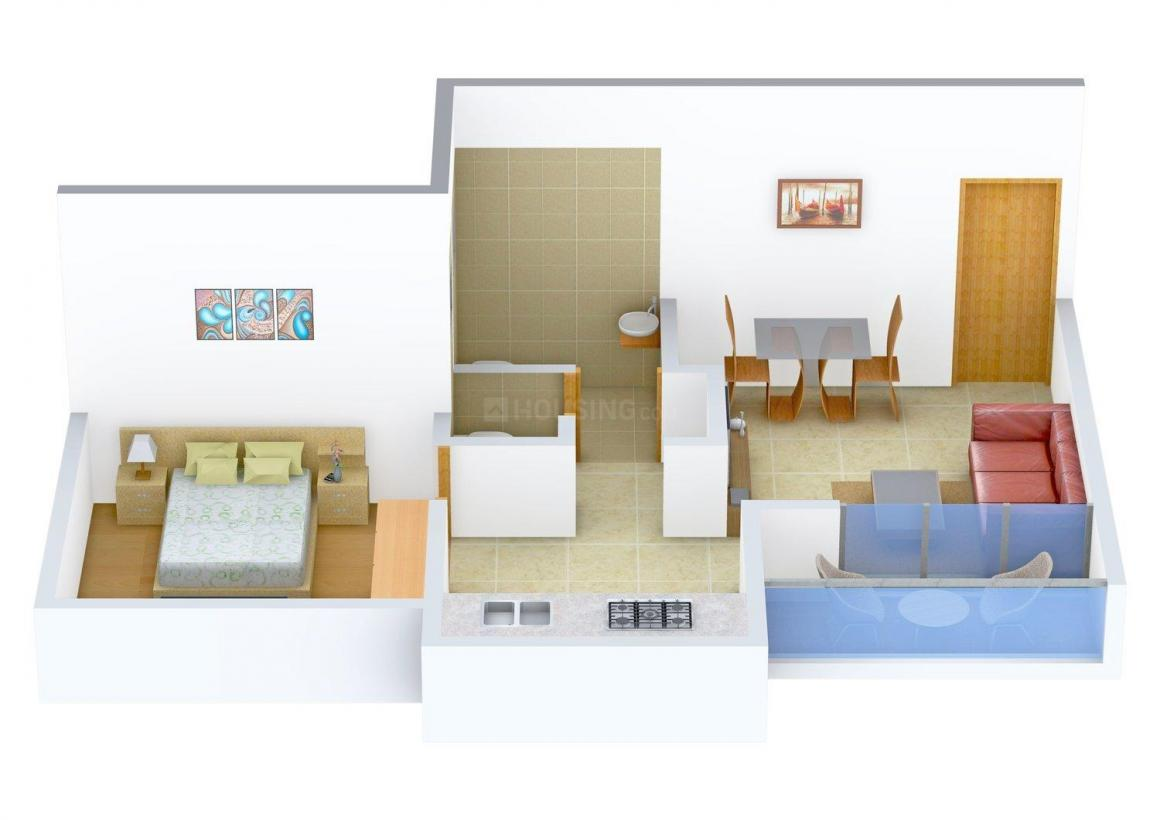 Floor Plan Image of 500.0 - 700.0 Sq.ft 1 BHK Apartment for buy in Sancheti Sketchbook