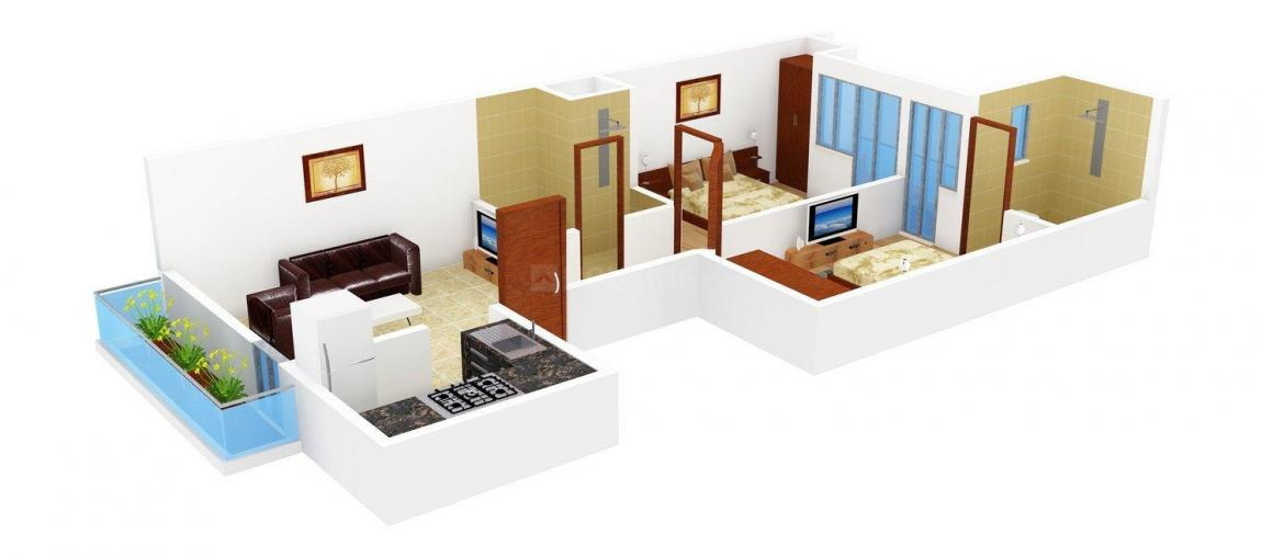 Shiv Shakti Floors Floor Plan: 2 BHK Unit with Built up area of 810 sq.ft 1