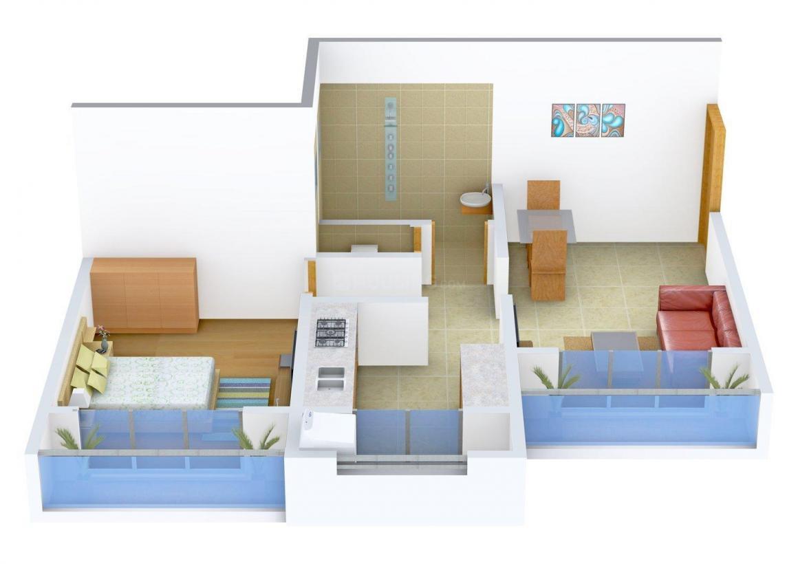 Shree Ram Apeksha Imperial Wing - H Floor Plan: 1 BHK Unit with Built up area of 535 sq.ft 1