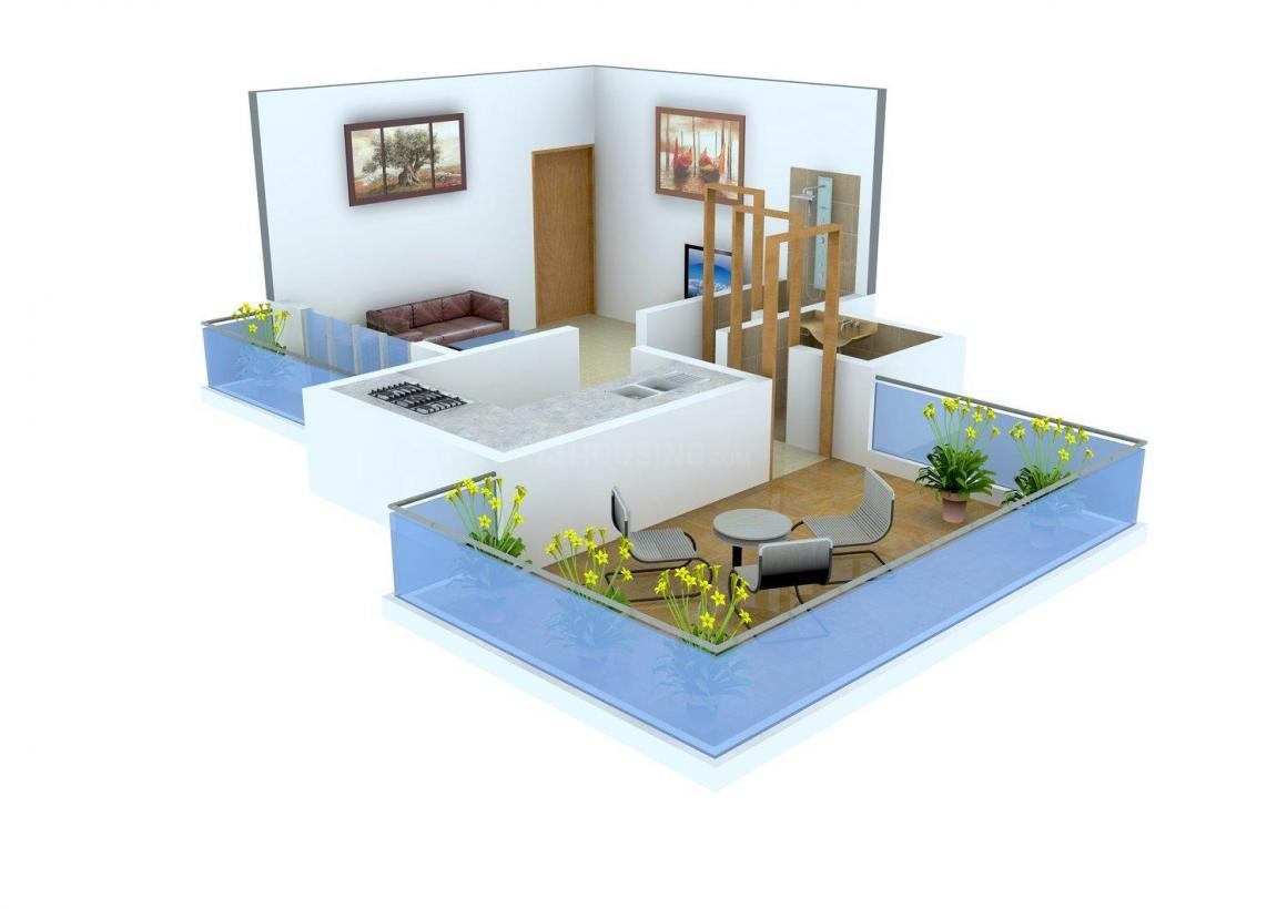 Floor Plan Image of 332.0 - 630.0 Sq.ft 1 RK Apartment for buy in Prayag Gurudarshan