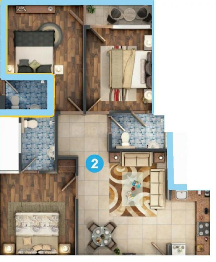 CS Serene Avenue Floor Plan: 3 BHK Unit with Built up area of 1050 sq.ft 1