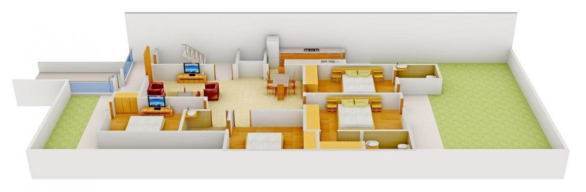 Retreat The Saffron Homes - 3 Floor Plan: 4 BHK Unit with Built up area of 1890 sq.ft 1