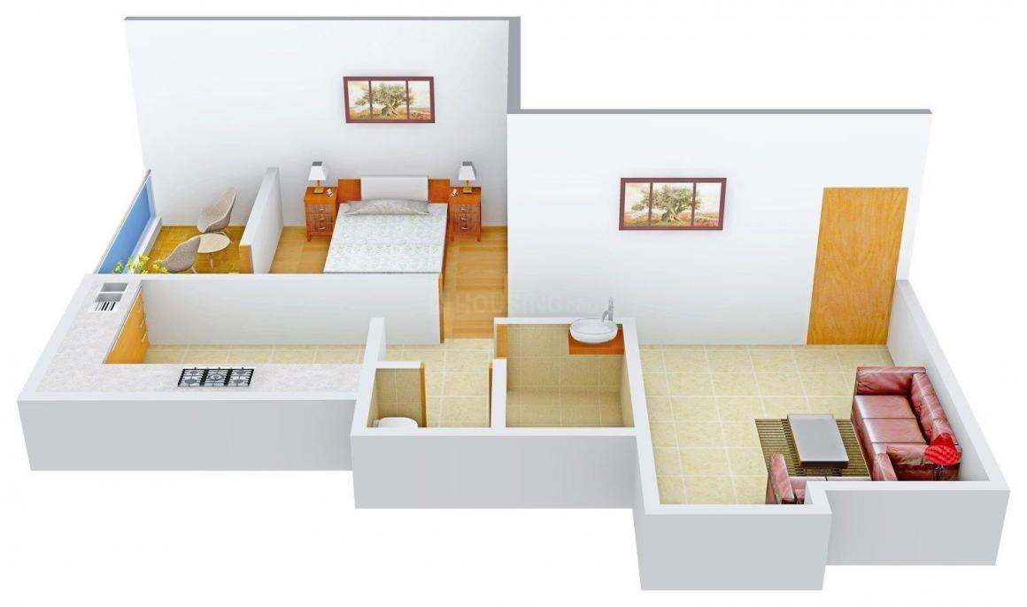 Floor Plan Image of 580 - 755 Sq.ft 1 BHK Apartment for buy in Athashree Samarth