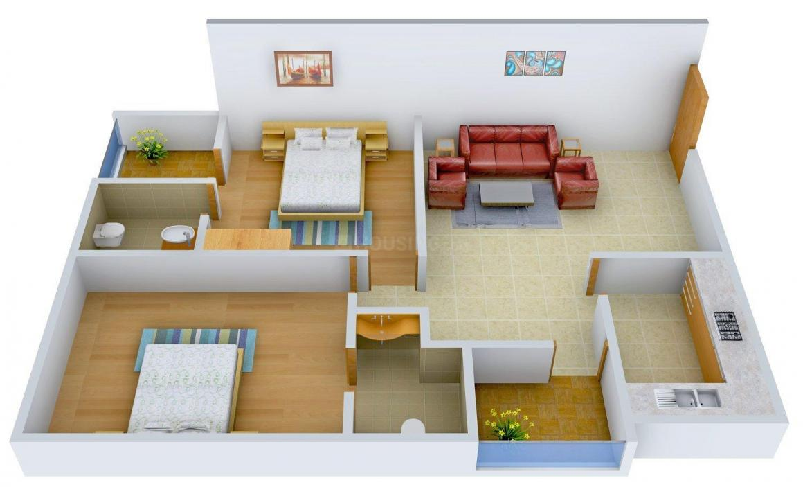Floor Plan Image of 1055.0 - 1575.0 Sq.ft 2 BHK Apartment for buy in Apple Anand Residency
