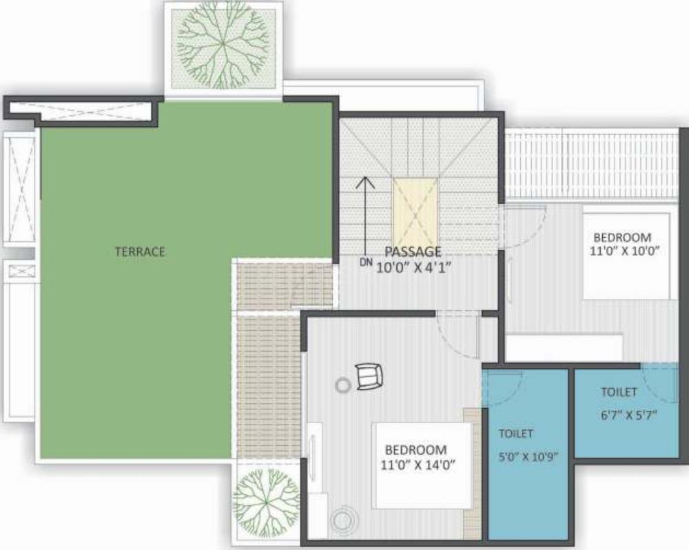 Art Nirman Shree Vishnudhara Gardens  Floor Plan: 4 BHK Unit with Built up area of 2628 sq.ft 1