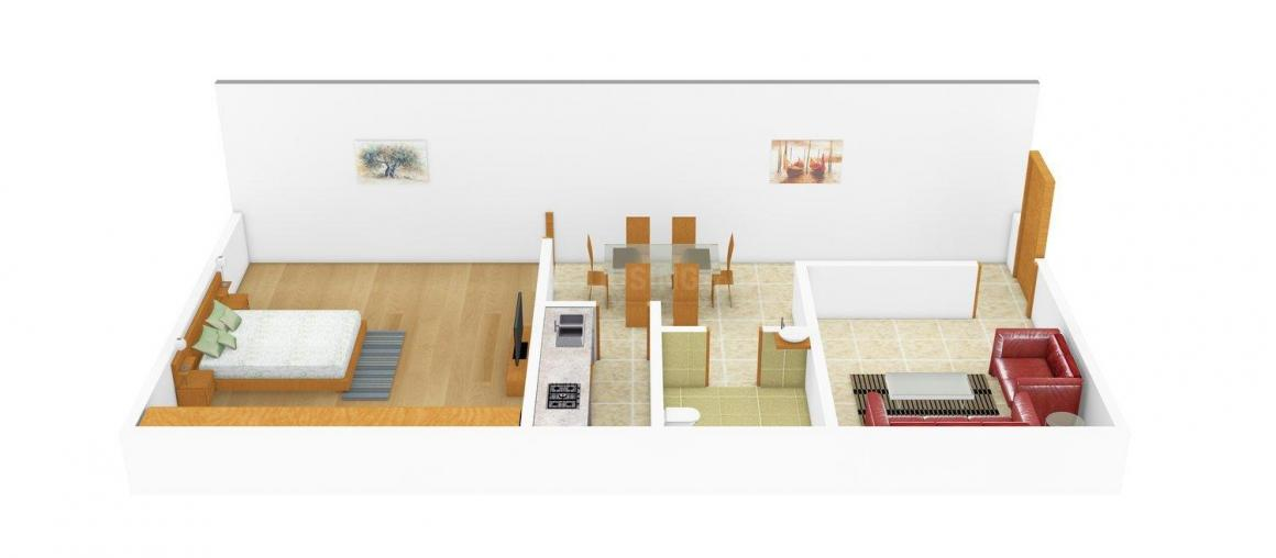 Floor Plan Image of 0 - 405 Sq.ft 1 BHK Independent Floor for buy in Sharma  Phase - 1