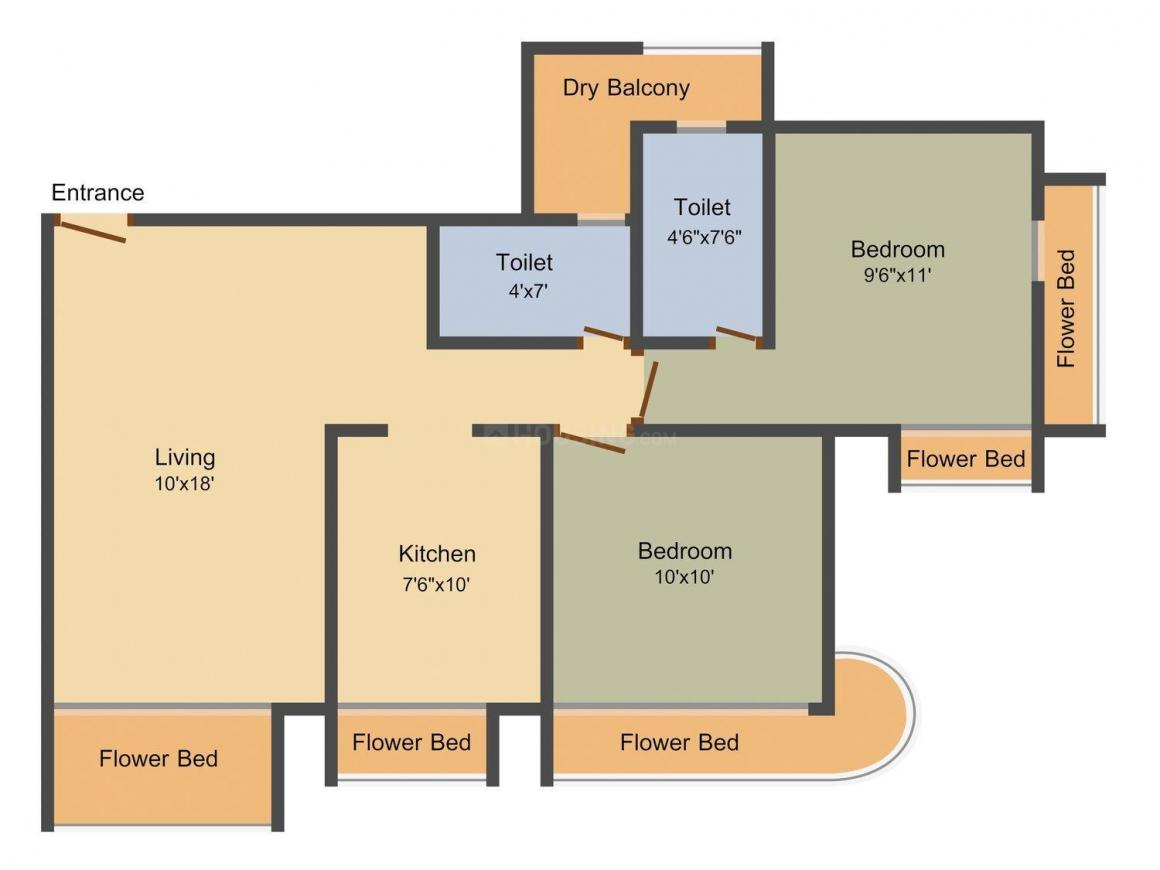 Floor Plan Image of 720.0 - 1120.0 Sq.ft 1 BHK Apartment for buy in STG Signature Residency