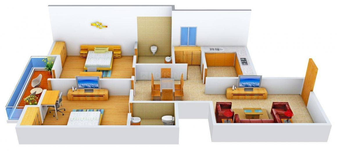 Floor Plan Image of 1165 - 1485 Sq.ft 2 BHK Apartment for buy in Shree Mohan Apartment