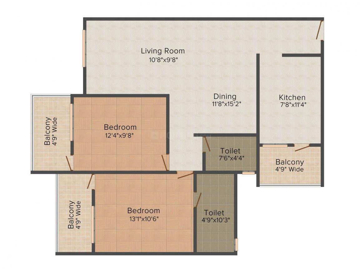 Floor Plan Image of 1152.0 - 1647.0 Sq.ft 2 BHK Apartment for buy in Devashri Garden