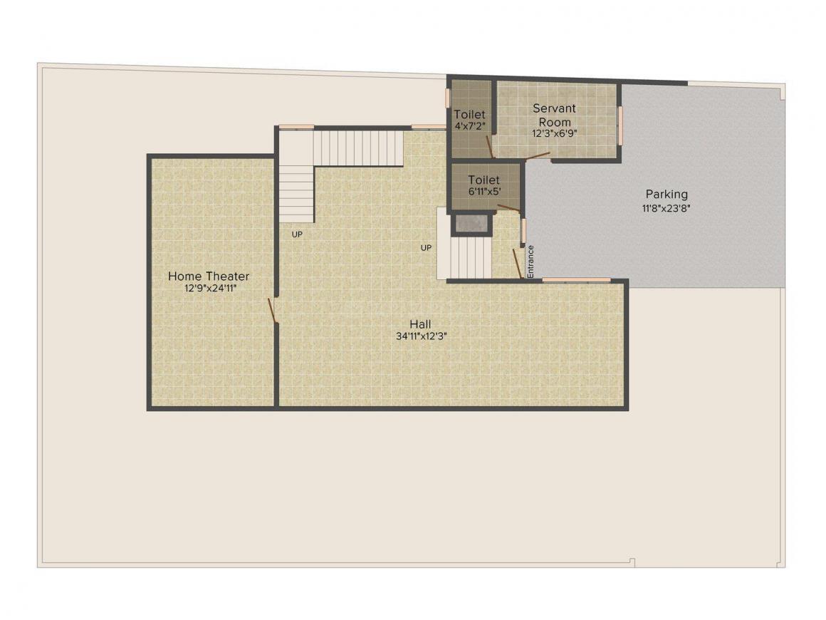 2D - Basement Floor