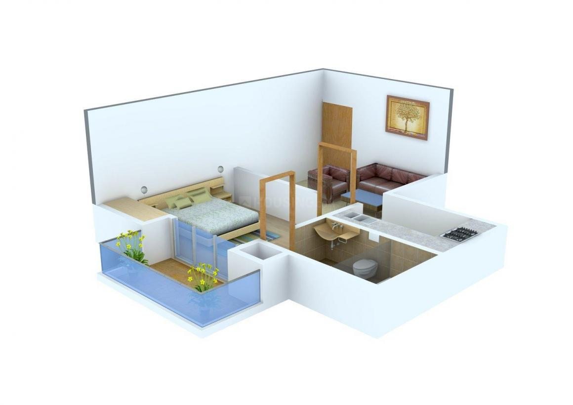 Arham Enclave Floor Plan: 1 BHK Unit with Built up area of 610 sq.ft 1