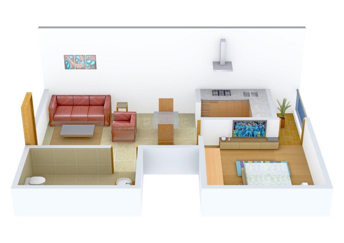 Floor Plan Image of 612 - 1015 Sq.ft 1 BHK Apartment for buy in Sayak Apartment