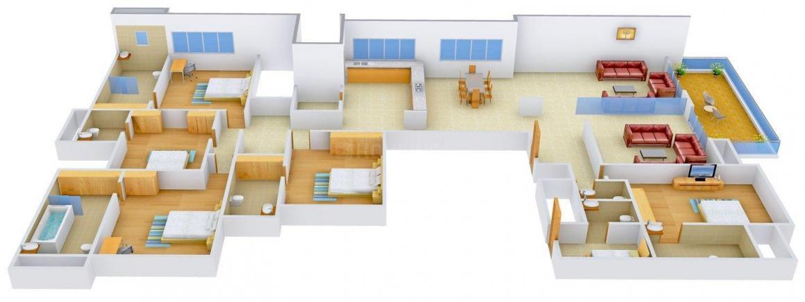 Krupa Shalin Bellevue Floor Plan: 5 BHK Unit with Built up area of 6435 sq.ft 1
