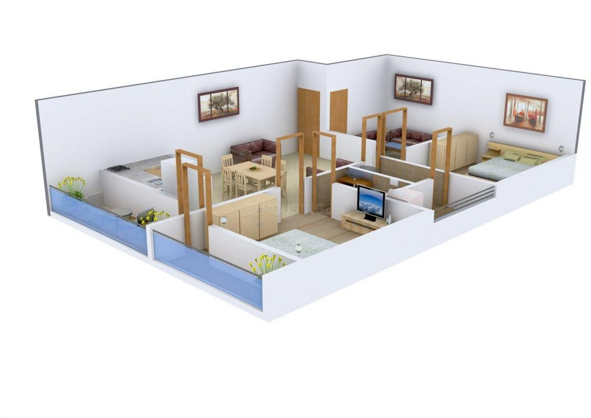 Floor Plan Image of 1242 - 1302 Sq.ft 2 BHK Apartment for buy in Pride Heights
