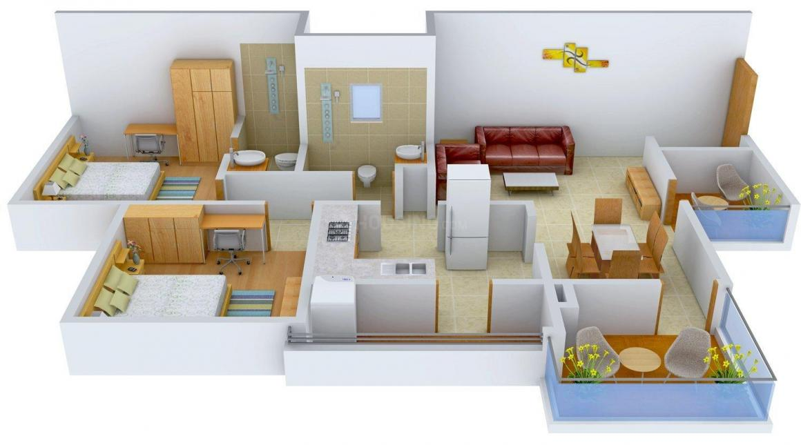 Floor Plan Image of 1164 - 1750 Sq.ft 2 BHK Apartment for buy in KKA Lifestyle