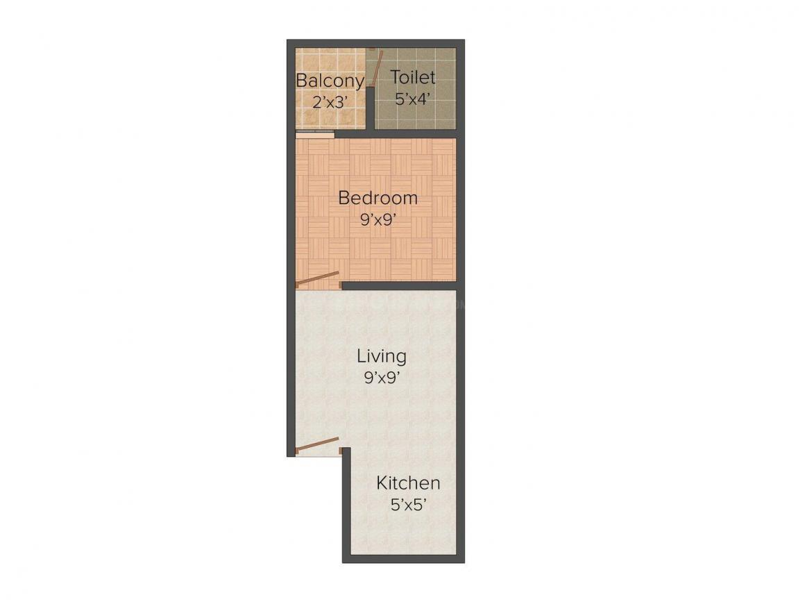 Floor Plan Image of 0 - 315.0 Sq.ft 1 BHK Independent Floor for buy in Bharti Homes - 2