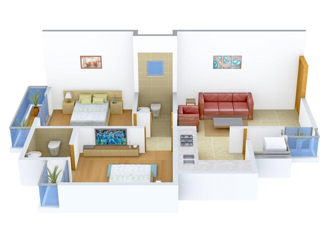 Floor Plan Image of 873 - 963 Sq.ft 2 BHK Apartment for buy in SNKJ Siddharth Homes