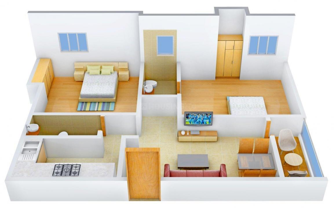 Floor Plan Image of 0 - 996.0 Sq.ft 2 BHK Apartment for buy in S. M. M Prathama