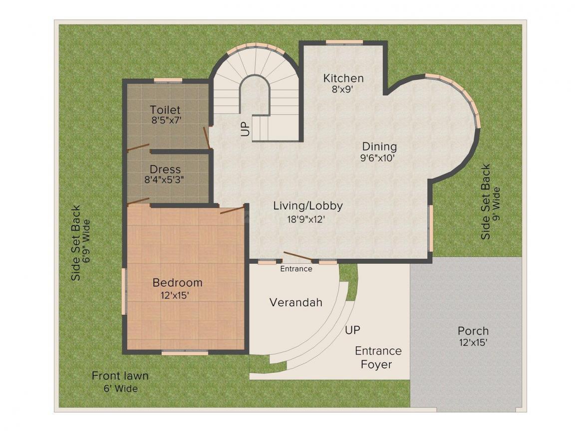 Floor Plan Image of 1349 - 1620 Sq.ft 1 BHK Villa for buy in The Retreat Villas