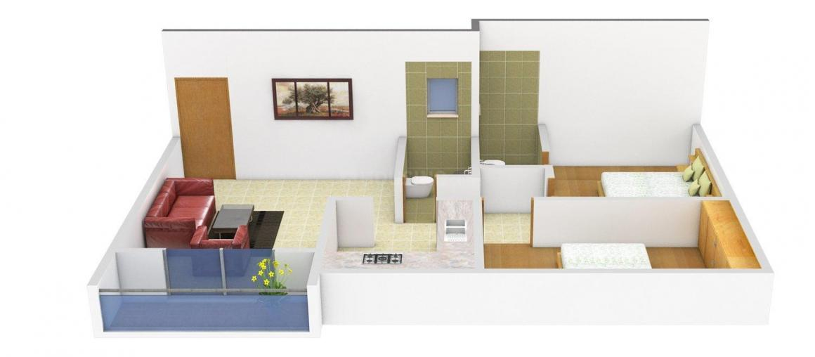 Floor Plan Image of 890 - 1925 Sq.ft 2 BHK Apartment for buy in Talware Imperial Meadows