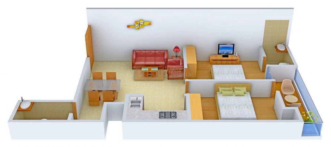 Floor Plan Image of 0 - 810 Sq.ft 2 BHK Independent Floor for buy in Shri Nilyam 2