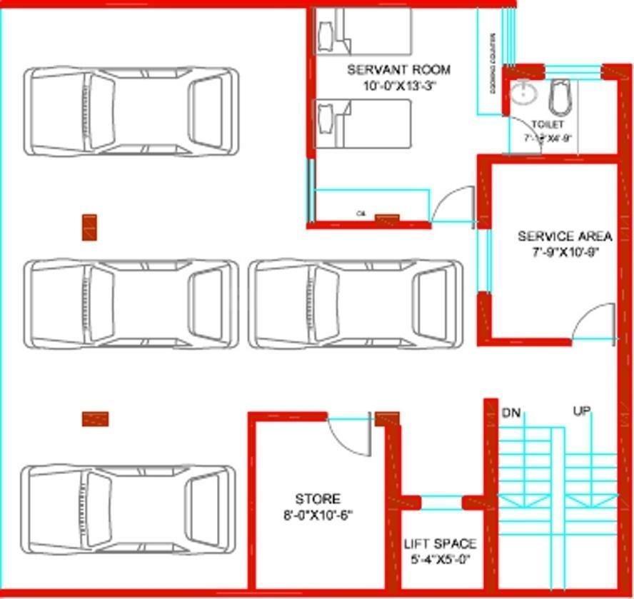 Tulip Ivory Villas Floor Plan: 6 BHK Unit with Built up area of 5000 sq.ft 1