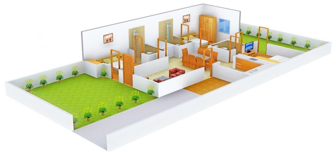 Floor Plan Image of 0 - 1300.0 Sq.ft 3 BHK Independent Floor for buy in Gupta & Gupta Property Dealer 1