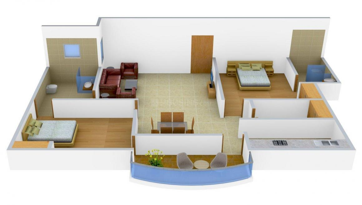 Floor Plan Image of 0 - 1500 Sq.ft 2 BHK Apartment for buy in UDB Harmony
