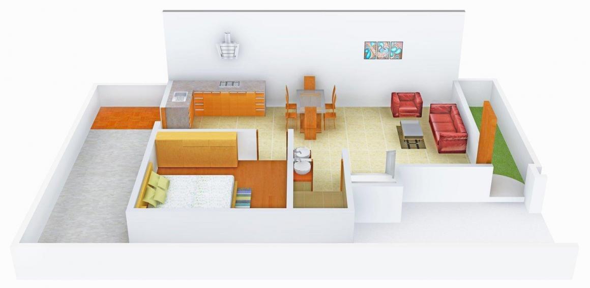 Floor Plan Image of 1155 - 1195 Sq.ft 3 BHK Villa for buy in Gayatri  Pancham Villa