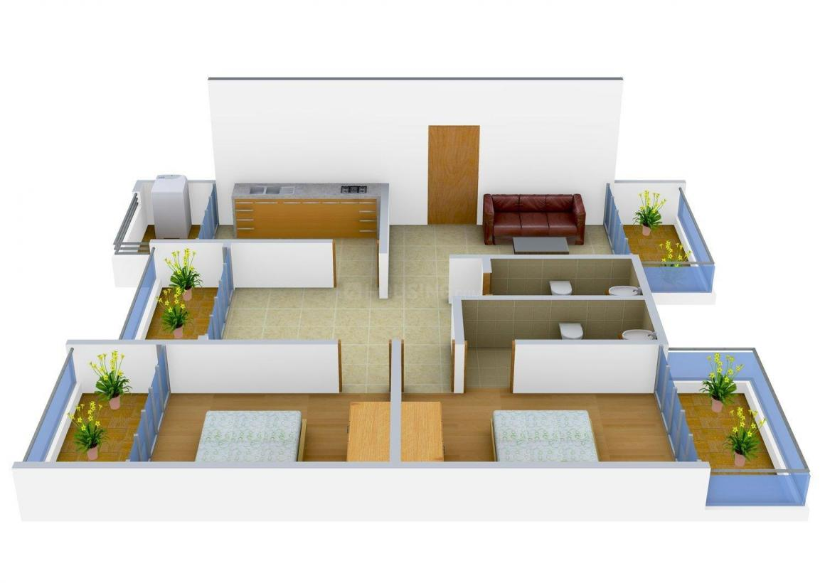 Floor Plan Image of 1400 - 1819 Sq.ft 2 BHK Apartment for buy in Models Avalon