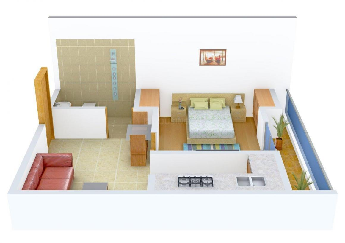 Floor Plan Image of 0 - 550 Sq.ft 1 BHK Independent Floor for buy in Dixit Phase 73