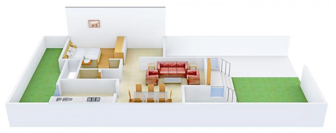 Floor Plan Image of 0 - 650.0 Sq.ft 1 BHK Apartment for buy in Casa Monta